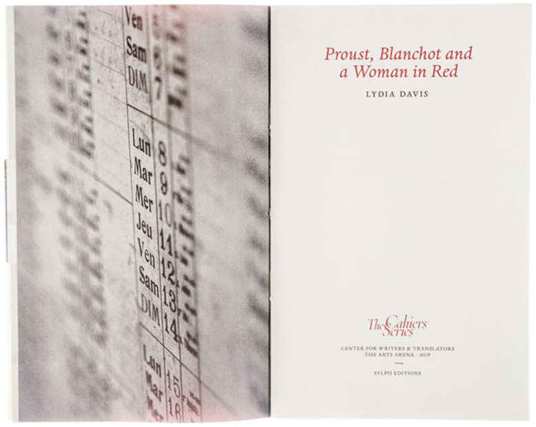 C5 Proust, Blanchot and a Woman in Red